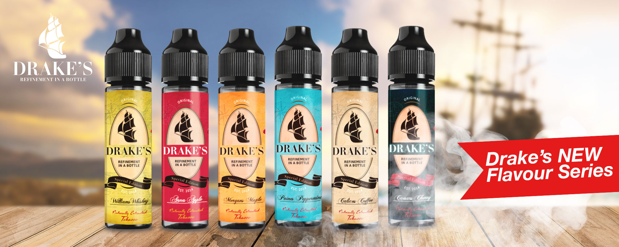 Natural Tobacco and Fruit e liquids