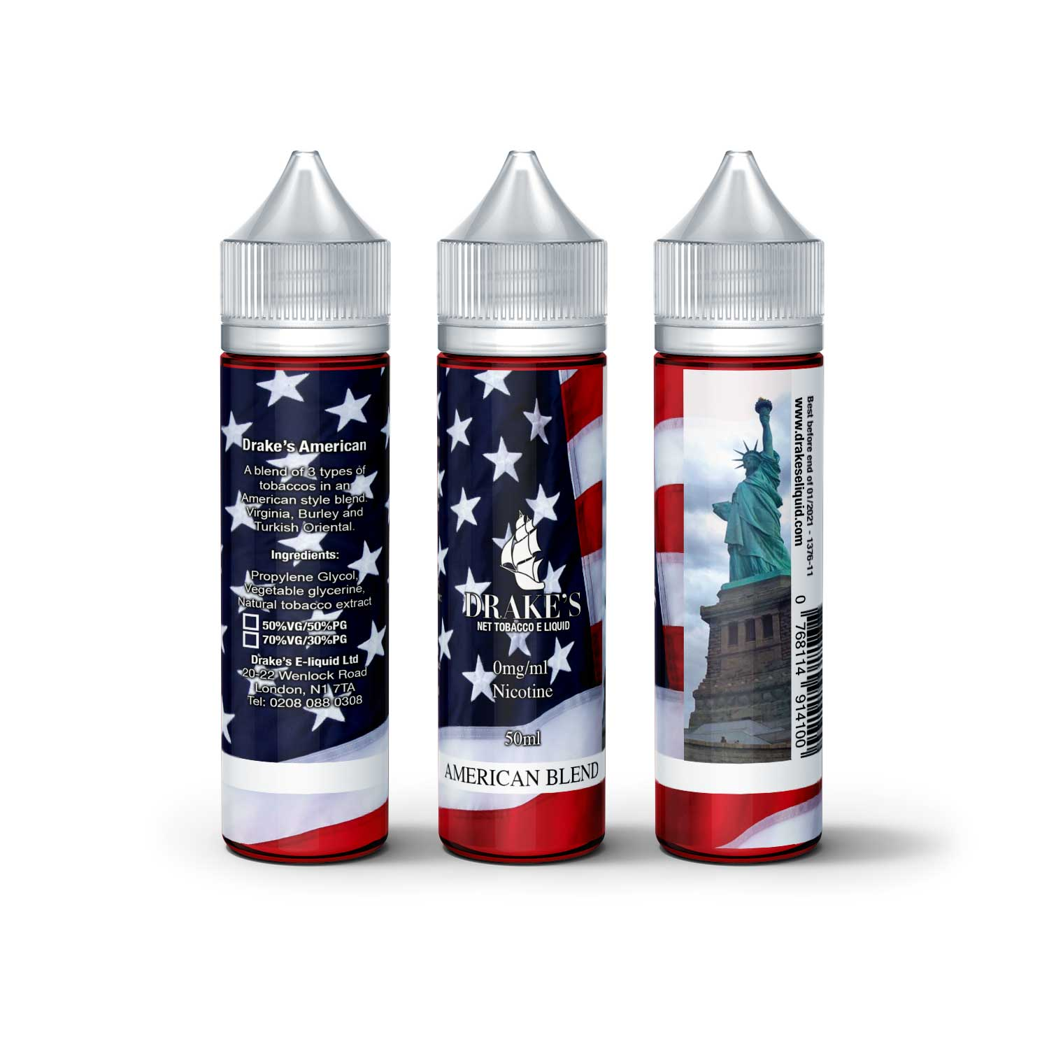 American Tobacco Blend Naturally Extracted tobacco e liquid