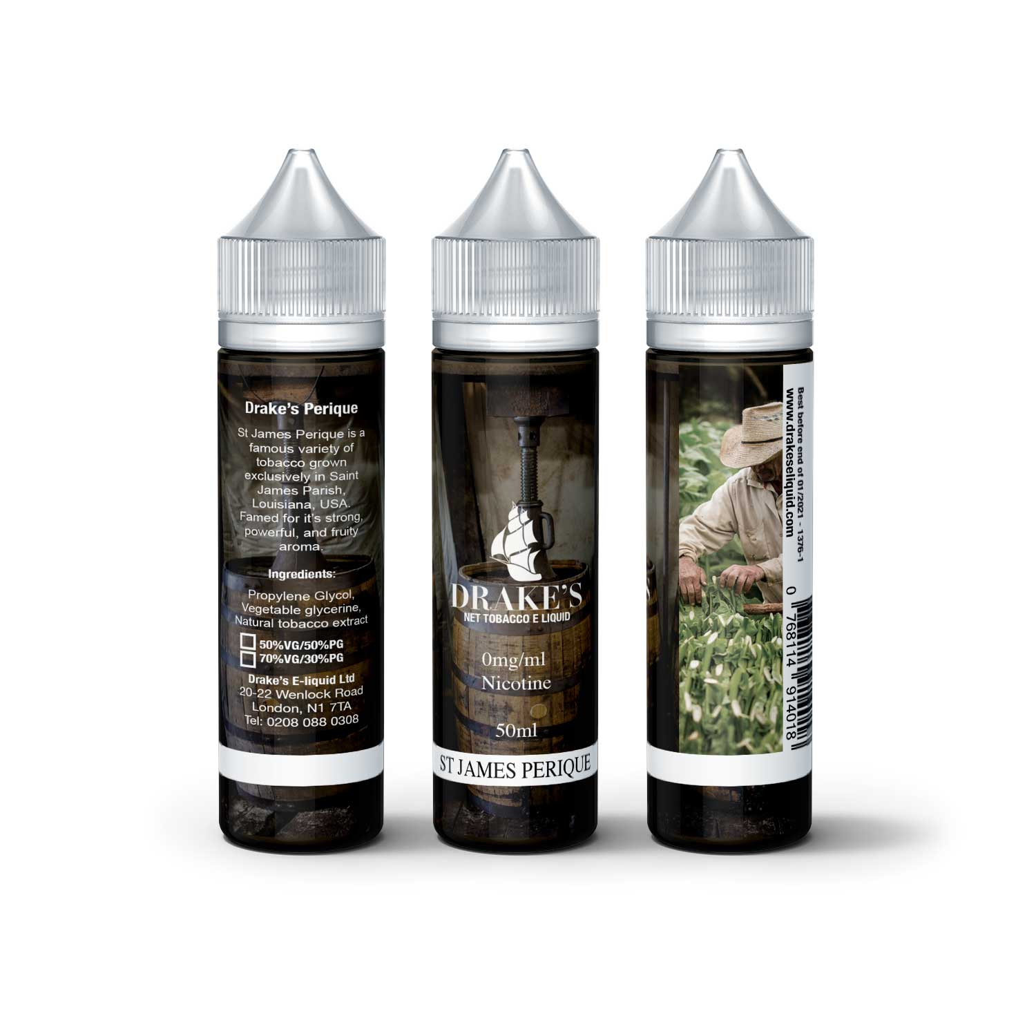 Saint James Perique E Liquid Naturally Extracted tobacco e liquid